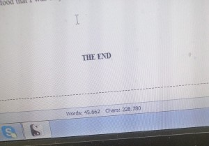 End of first draft