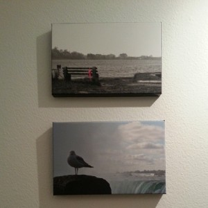 Quite exciting to put my own photographs as decoration :-)