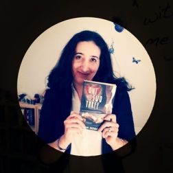 Me holding an ARC of ONE TWO THREE :-)